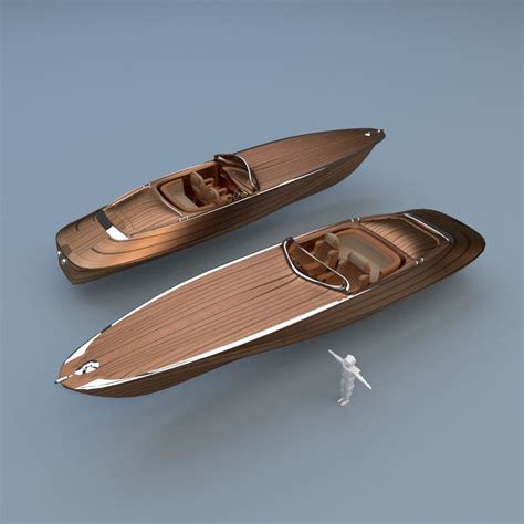 speed boat models 3d model wooden speed boat