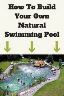 how to build your own home how to build your own natural swimming pool diy stratosphere