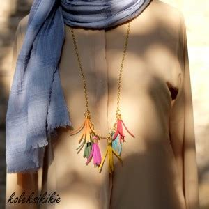 Aneka Kalung Cantik membuat kalung pelangi koleksikikie