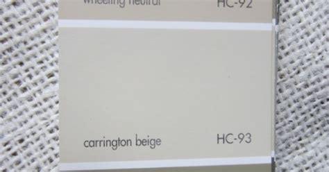 benjamin moore carrington beige  wheeling neutral