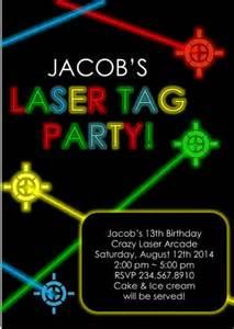 laser tag invitation editable partygamesplus