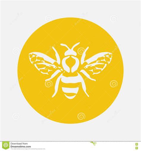 honey bee icon vector bee icon cartoon vector cartoondealer com 71106213