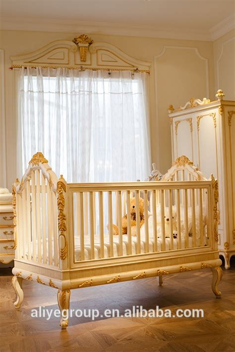 golden baby crib luxury wooden baby crib royal golden