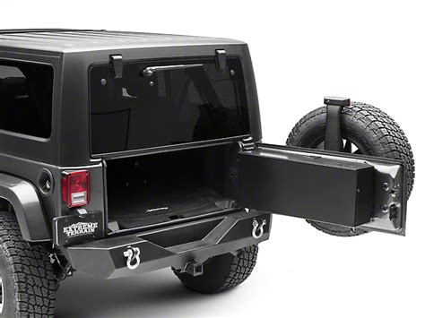 jeep tailgate storage carrichs jeep wrangler tailgate storage box gloss black