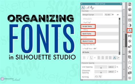 how to organize your silhouette library organize fonts in silhouette studio v4 silhouette school