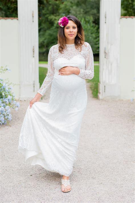 Brautkleid Schwanger schwanger heiraten lange brautkleider f 252 r werdende mamis