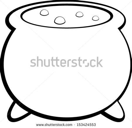 witch cauldron coloring page witch cauldron stock vector 153424553 shutterstock