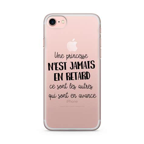coque iphone 7 drole coque iphone 7 et 7 plus une princesse n est jamais en retard