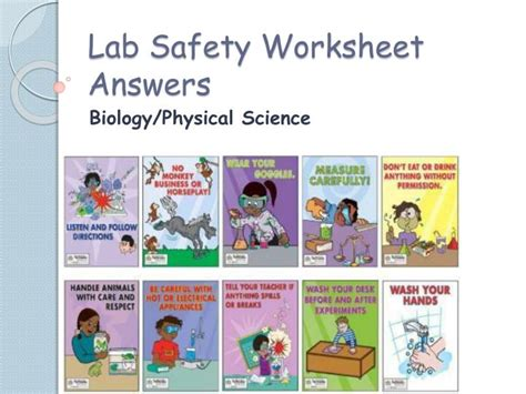 Lab Safety Worksheet Answers by Ppt Lab Safety Worksheet Answers Powerpoint Presentation
