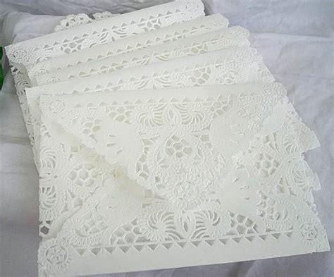 Handmade Lace Wedding Invitations - doily paper lace envelopes wedding invitation liner