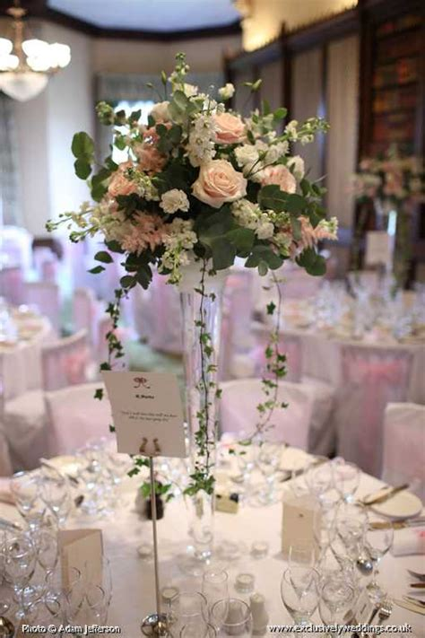 Wedding Flower Displays by Vase Table Display Exclusively Weddings
