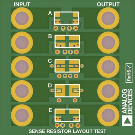 current sense resistor pcb layout optimize high current sensing accuracy by improving pad layout of low value shunt resistors