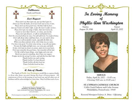 Memorial Program Templates by 10 Best Images Of Funeral Program Booklet Free Funeral