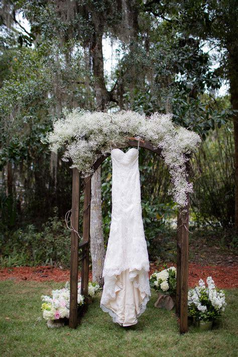 Wedding Arch Lace lace wedding dress on baby s breath wedding arch