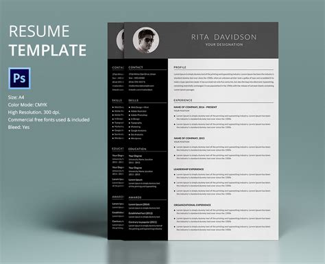 40 Resume Template Designs Freecreatives Free Creative