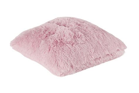 kissen rosa zottel kissen dekokissen flausch bodrum rosa 45x45cm