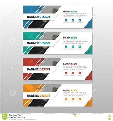 layout design for banner colorful triangle abstract corporate business banner