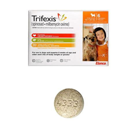 trifexis for dogs trifexis for dogs 10 1 20 lbs 6 chewable tablets orange vetdepot
