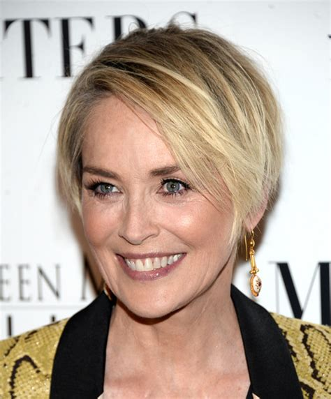 sharon stone hairband sharon stone layered razor cut razor cuts sharon stone