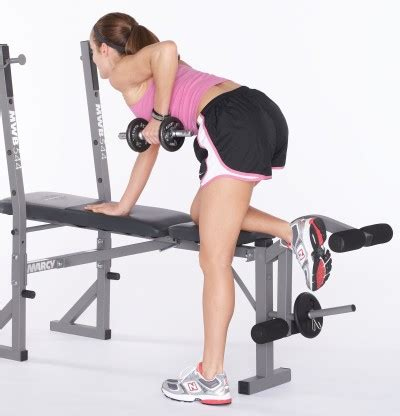 side bench exercise alternative bent over row for women alternative bent