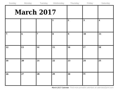 printable calendar march 2017 march 2017 printable calendar