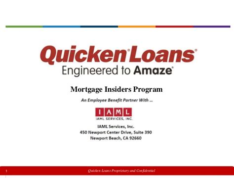 quicken loans mortgage insiders program