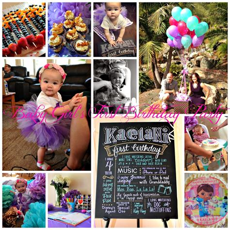 themes first birthday party baby girl san diego hr mom february 2014