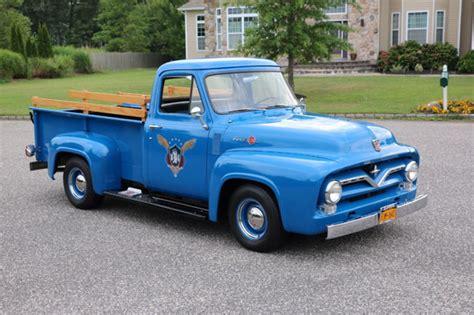 1955 Blue Ford F250   Blue 1955 Ford F 250 Classic Car in
