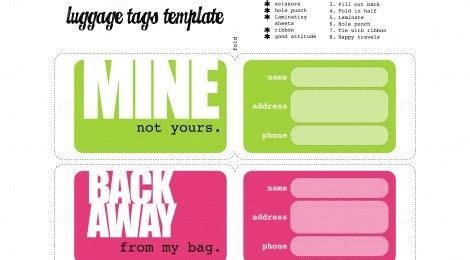 printable blank luggage tags 33 best printable luggage tags images on pinterest