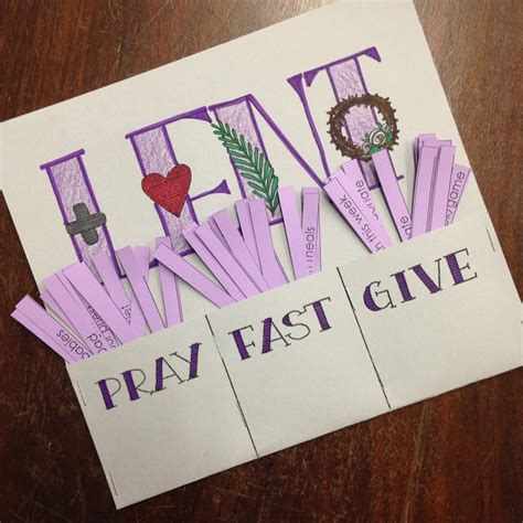 lent crafts for look to him and be radiant lent pray fast give printable