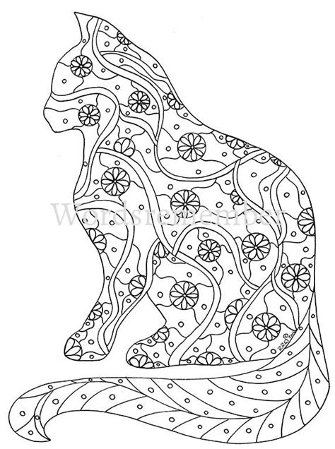 Cat Coloring Pages For Adults by Blank Coloring Pages Cats Coloring Pages