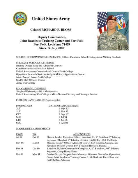 army infantry resume sle resumes design