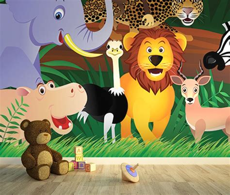 animal wall mural jungle room wall murals homewallmurals co uk