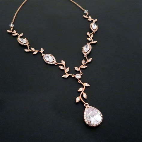 bridal necklace gold necklace gold bridal jewelry