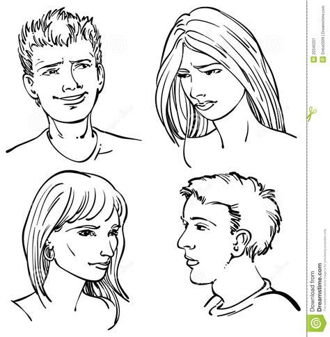 imagenes de jovenes a blanco y negro caras adultas jovenes imagen de archivo imagen 20340201