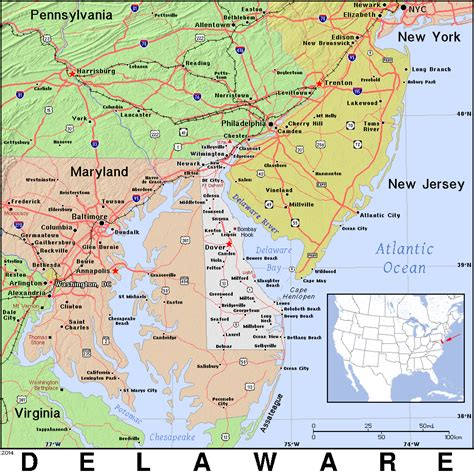 detailed map of delaware index of pat map us de