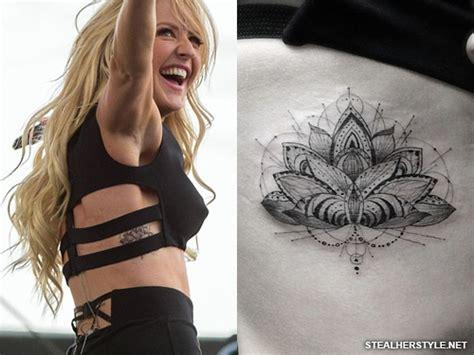 lotus tattoo ellie goulding ellie goulding s tattoos meanings steal her style
