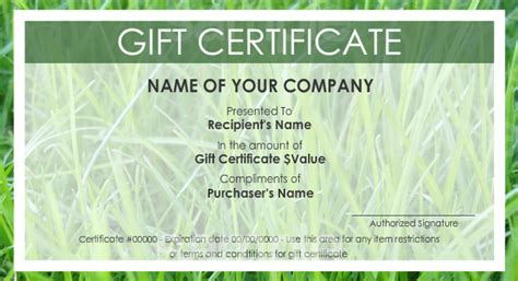 create your own gift certificate template free best photos of print your own gift certificates make