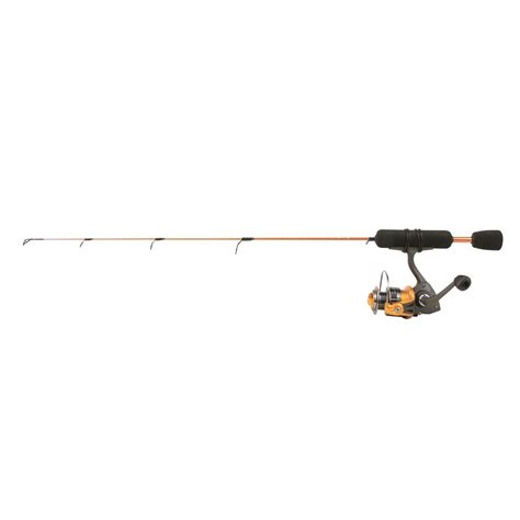 light action fishing rod clam power 26 quot stick series ice fishing rod and reel combo