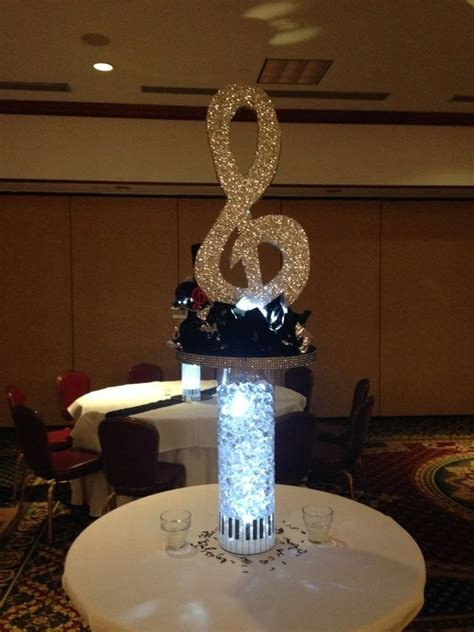 bar mitzvah centerpieces treble clef theme centerpiece bar mitzvah bar