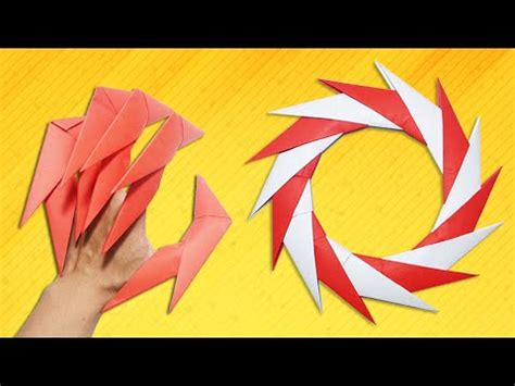 Origami Wolverine Claws - 울버린 발톱 how to make paper wolverine claws paper claws doovi