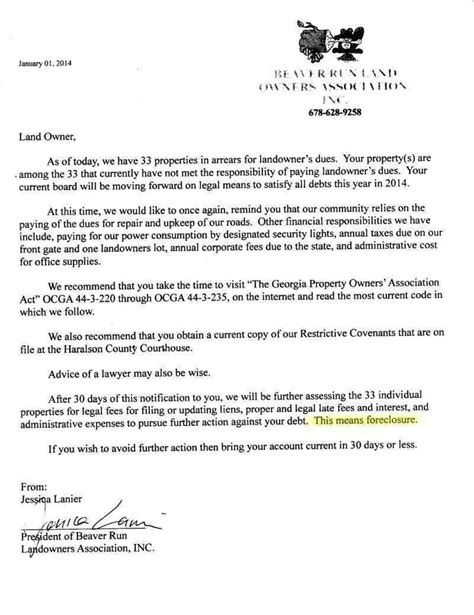 letter template threatening sle letter threatening for non payment of dues
