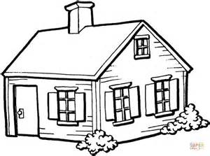 draw my house small house in the village coloring page free printable