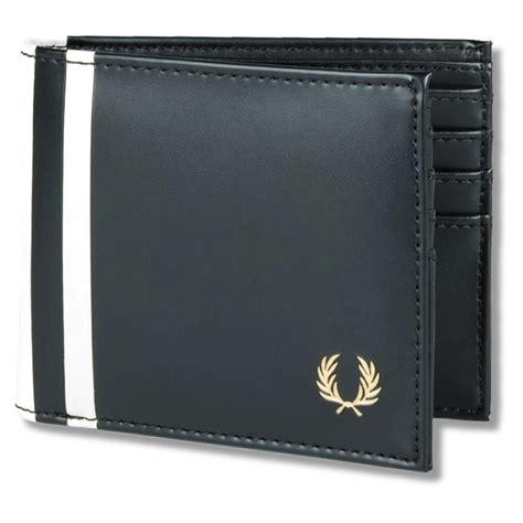 Fred Perry Gift Card - fred perry mod 60 s laurel wreath racing stripe pu billfold wallet adaptor clothing