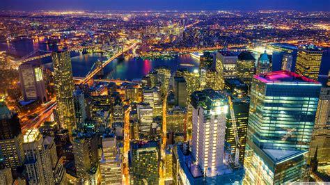 manhattan night in new york city 4k wallpapers new york city manhattan at night 4k hd desktop wallpaper