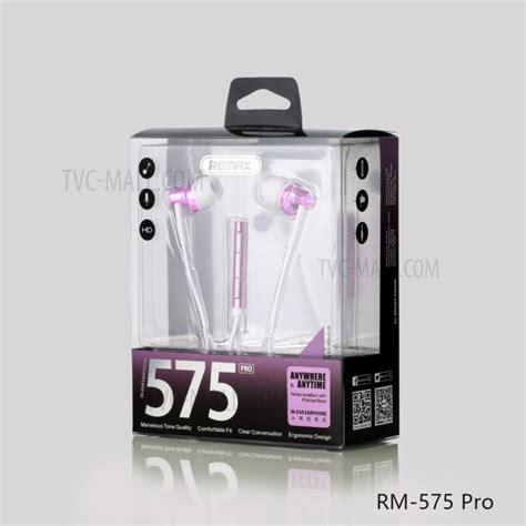 Remax Rm 575 Pro Earphone Blue remax rm 575 pro 3 5mm in ear earphone with mic and line in for iphone samsung sony