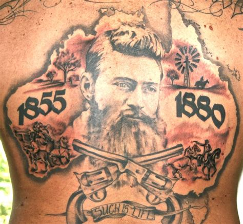 ned tattoos max s ned kelly amp kelly gang creations