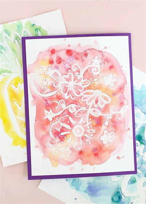 watercolor reveal tutorial easy watercolor art rubber cement resist persia lou
