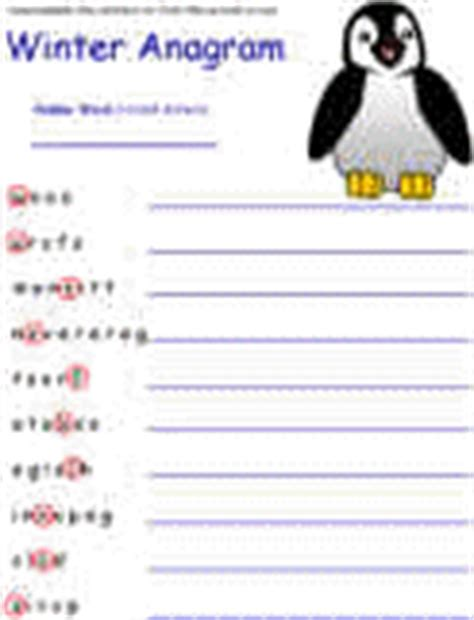 printable winter word games winter worksheets