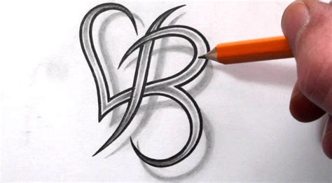 tattoo letter b designs letter b on last name tattoos letter l